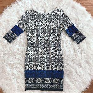 • Joseph Ribkoff • Jersey Print White Black Dress